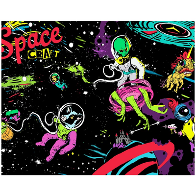 Wall Clings - Space Craft - (Craft Beer Artwork) - joestickel