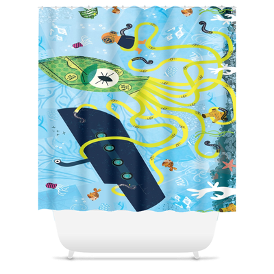 Shower Curtains-I Spy With My Little Eye-(Craft Beer Artwork) - joestickel