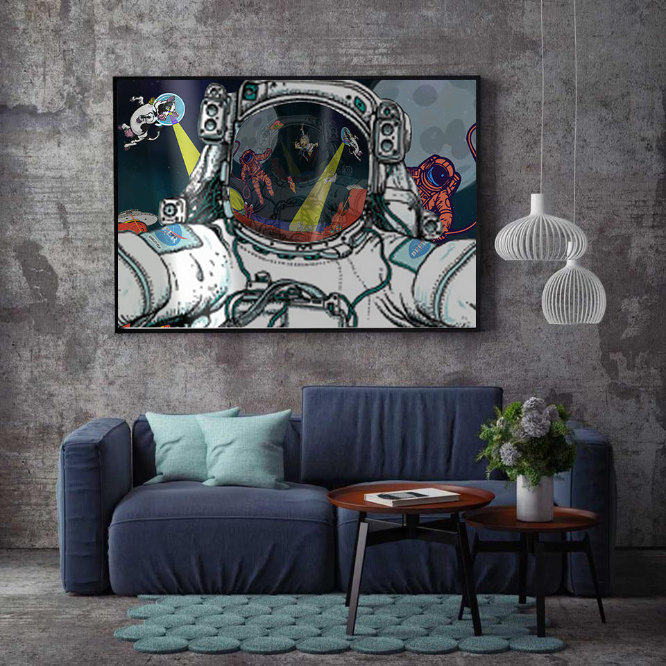 Canvas - Astronaut Selfie - (Craft Beer Artwork)