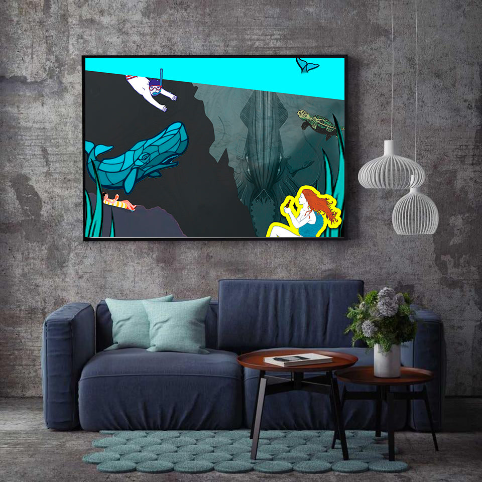 Canvas - Deep Sea View - (Craft Beer Artwork)