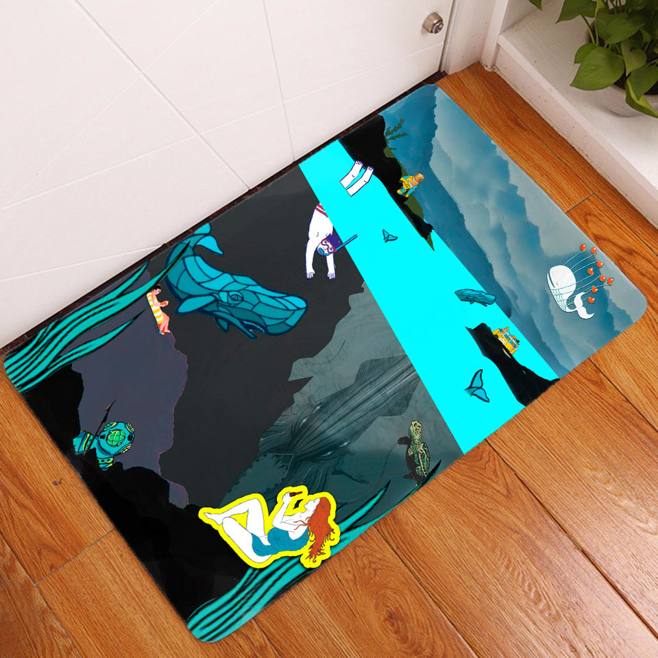 Door Mat - Deep Sea View - (Craft Beer Artwork)