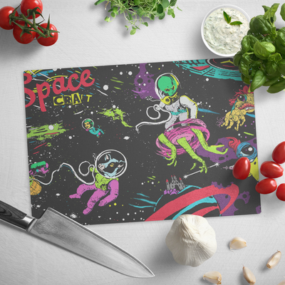 Cutting Board-Space Craft - (Craft Beer Artwork) - joestickel