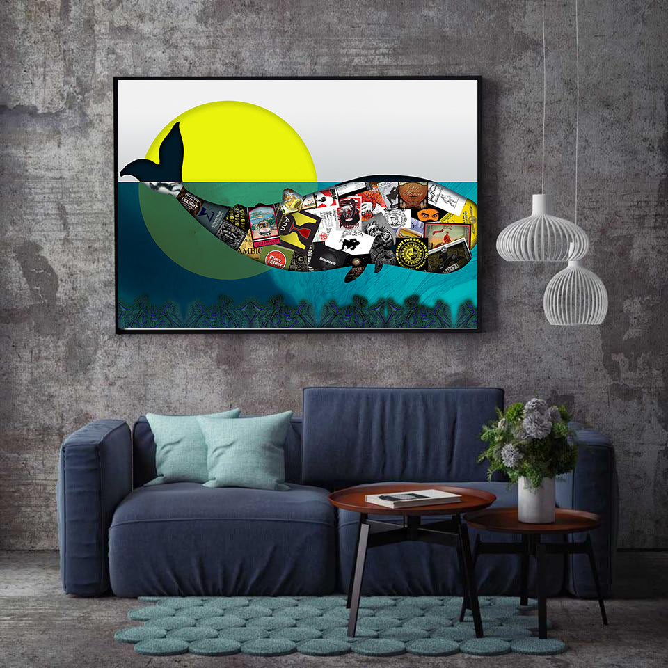 Canvas - Whalez Fragmented - (Craft Beer Artwork)