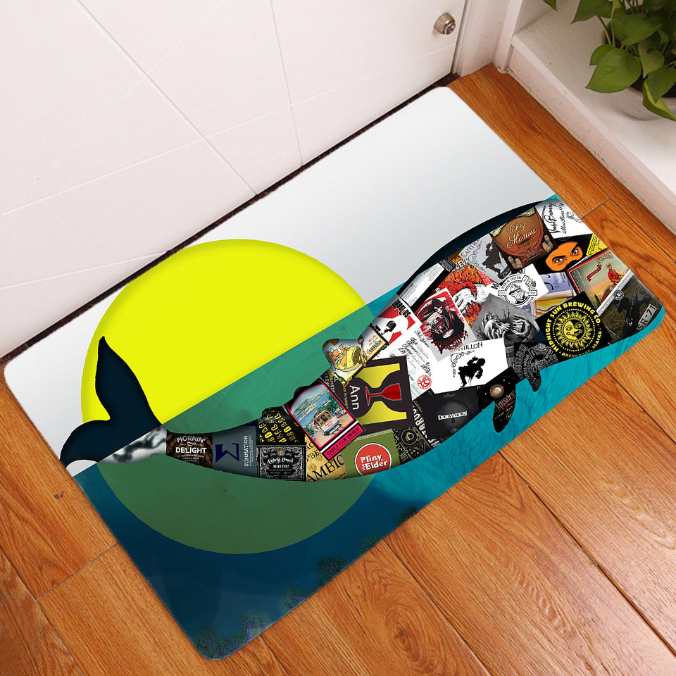 Door Mat - Whalez Fragmented - (Craft Beer Artwork)