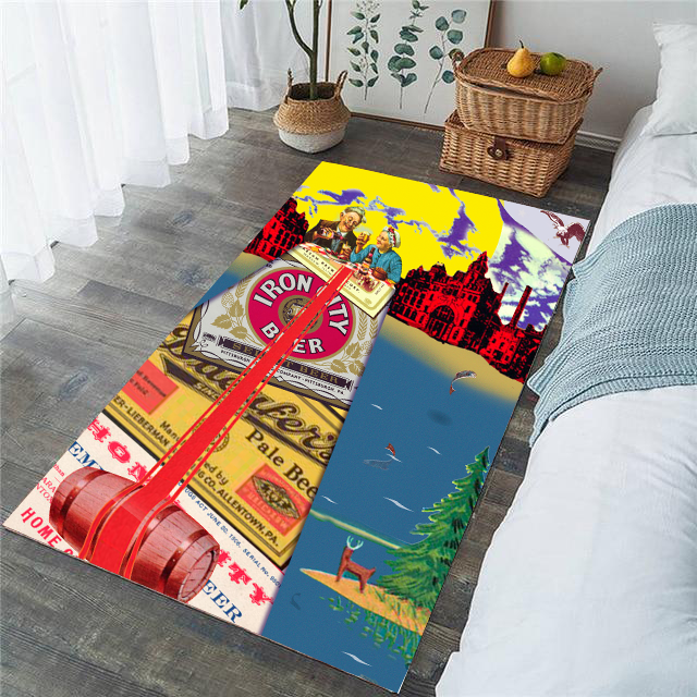 Living Room Rug - A bridge too far - (Craft Beer Artwork)