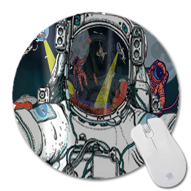 Mouse Pads - Astronaut Selfie - (Craft Beer Art)