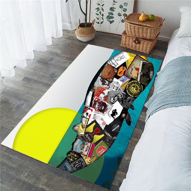 Living Room Rug - Whalez Fragmented - (Craft Beer Artwork)