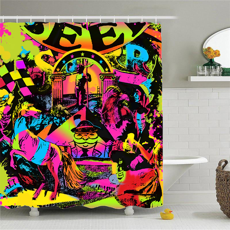 Shower Curtains-Colorful Lord Of Beer-(Craft Beer Artwork)