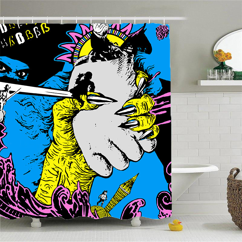 Shower Curtains-Now I'm down in it-(Craft Beer Artwork)