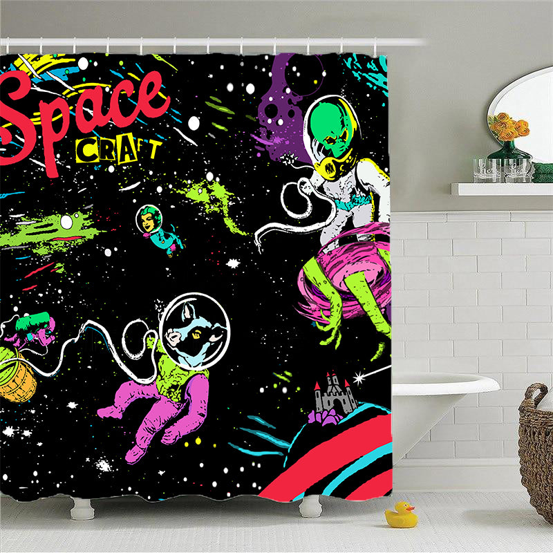 Shower Curtains-Space Craft-(Craft Beer Artwork)
