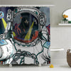 Shower Curtains-Astronaut Selfie-(Craft Beer Artwork)