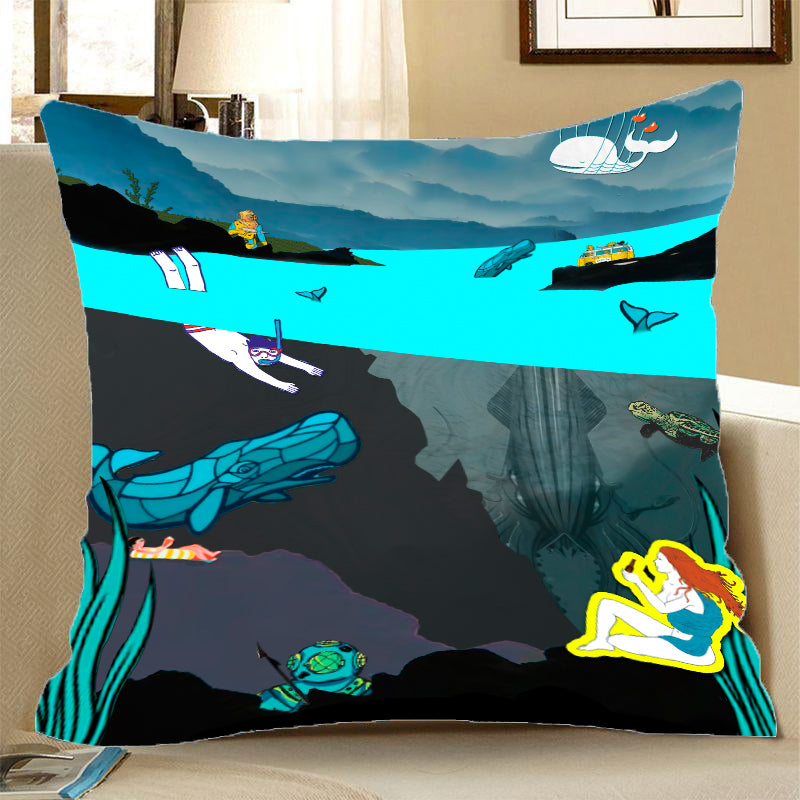Pillow Case - Deep Sea View - (Craft Beer Artwork)