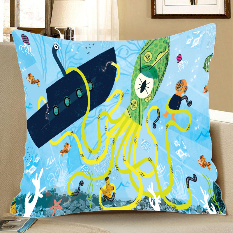 Pillow Case - I spy with my little eye - (Craft Beer Artwork)