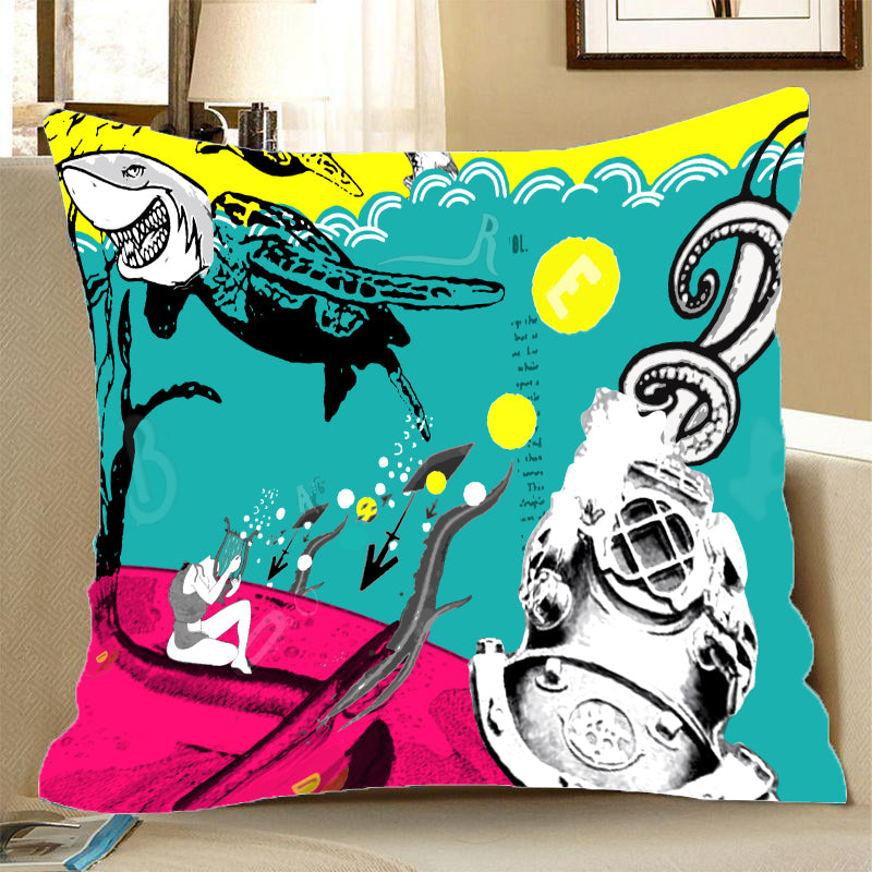 Pillow Case - Turtle Shark - (Craft Beer Artwork)