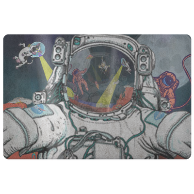 Doormat - Astronaut Selfie - (Craft Beer Artwork) - joestickel
