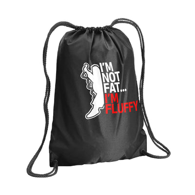 I'm Not Fat, I'm Fluffy Drawstring Bag