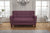 Canapé 2 Places - Collection Chic - 130 x 80 x 82 cm - Aubergine