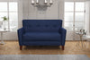 Canapé 2 Places - Collection Chic - 130 x 80 x 82 cm - bleu