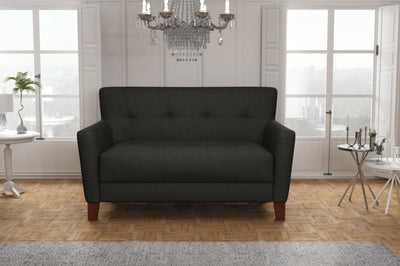Canapé 2 Places - Collection Chic - 130 x 80 x 82 cm - Gris Anthracite