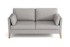 Canapé 3 places - Collection Prestige - 177 x 84 x 91 cm - Gris clair
