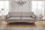 Canapé 3 places - Collection Noblesse - 200 x 87 x 76 cm - Gris clair