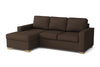 Canapé angle gauche fixe - 234 x 152 x 90 cm - Collection Prestige - Marron