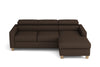 Canapé lit angle droit - Collection Elégance - 229 x 164 x 75 cm - Marron