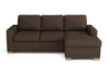 Canapé angle droit fixe - Collection Prestige - 234 x 152 x 90 cm - Marron