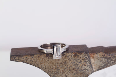 Baguette Diamond Platinum Ring