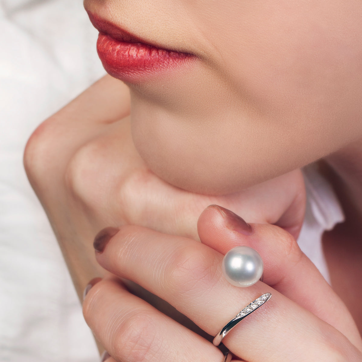 Australian South Sea Pearl & Diamond Ring