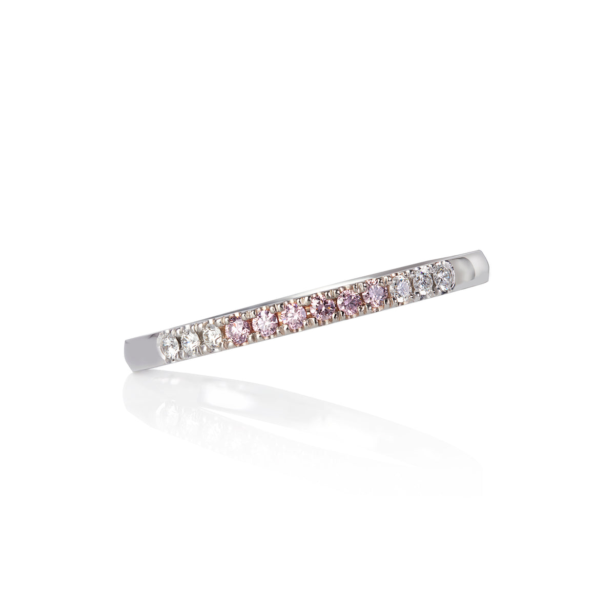 Argyle Pink Diamond 18ct White Gold Stacking Band