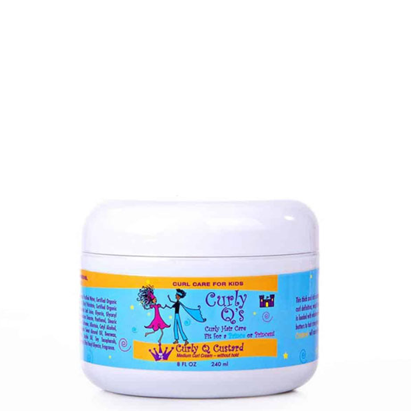 Curly Q Custard - Curl Cream for THICK, KINKY textured curls (8 Oz)