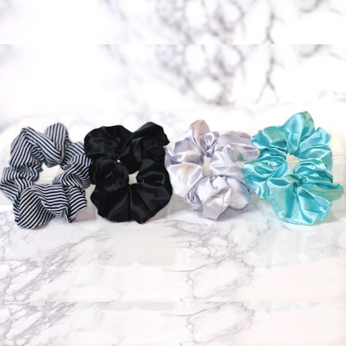 4 piece Satin Scrunchies Set