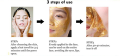 How to use the gold face mask