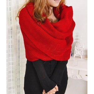 ChillyKnit - Womens Scarf With Sleeves - Sunny Central