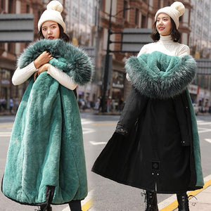 Womens Hooded Winter Coat with Fur Lining
