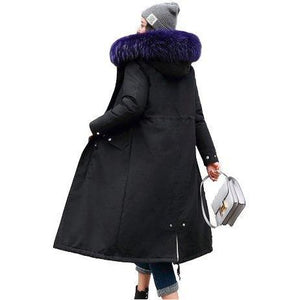 Womens Hooded Winter Coat with Fur Lining - Sunny Central