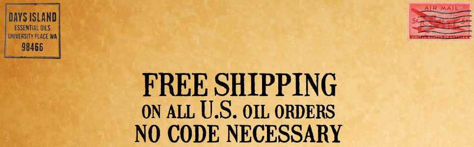 Free shipping on all oils orders!