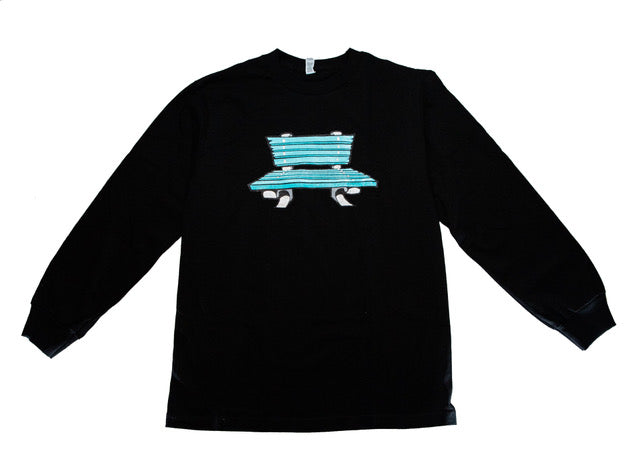 "a. ""Cartoon Bench Logo"" L/S Tee"