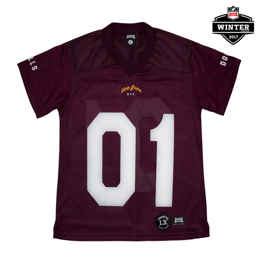 b. Women Maroon/White 01 Field Jersey