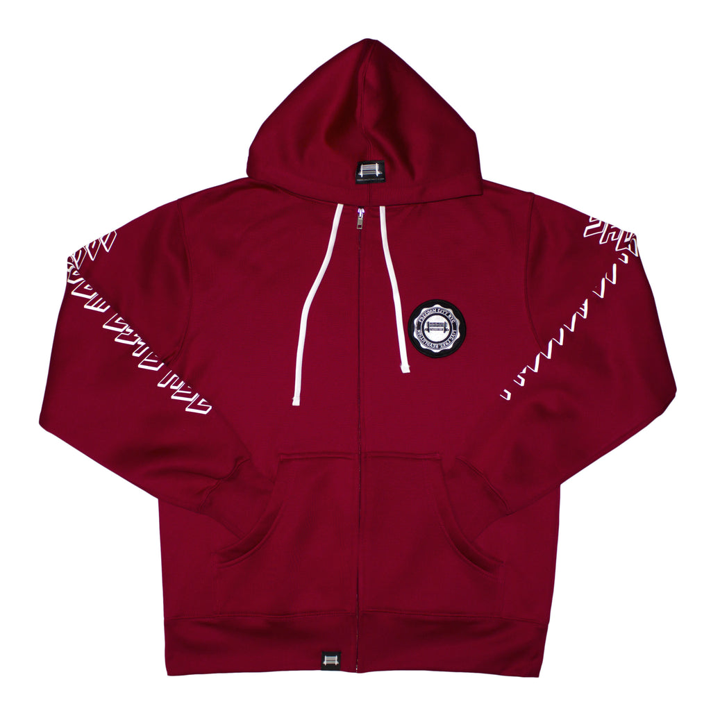 h. Poly Tech Brick Red Hoodie