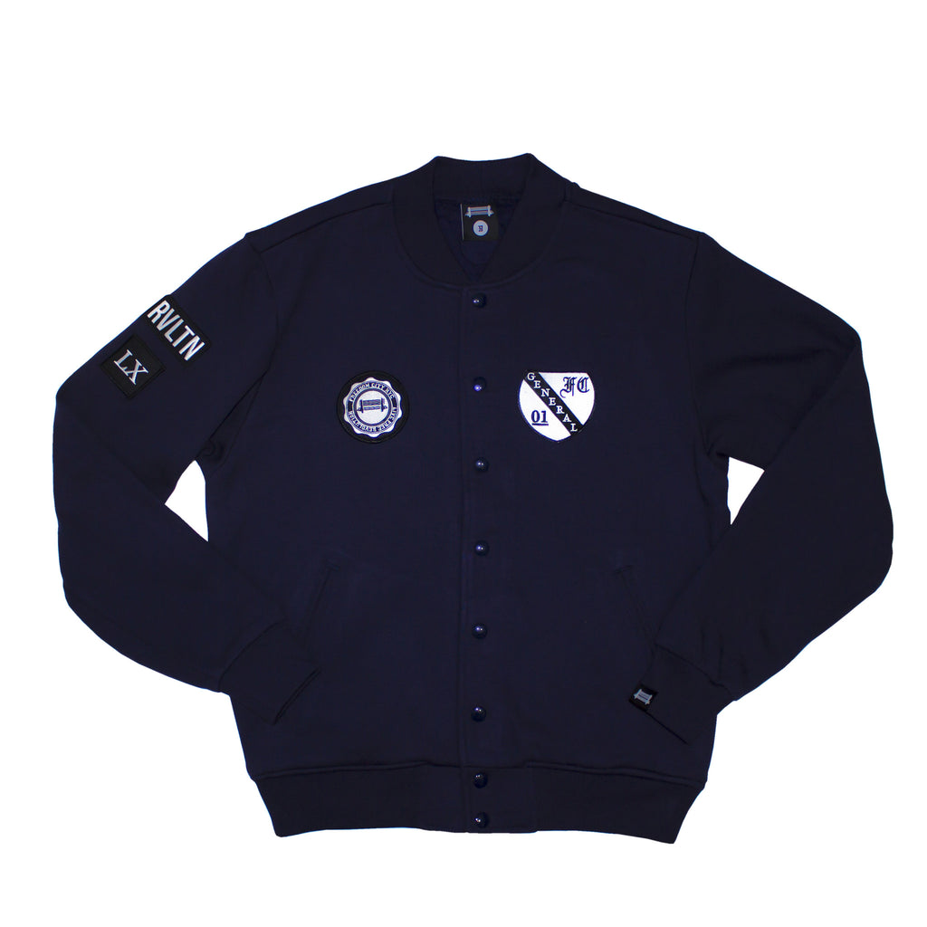 m. Midnight Varsity Jacket