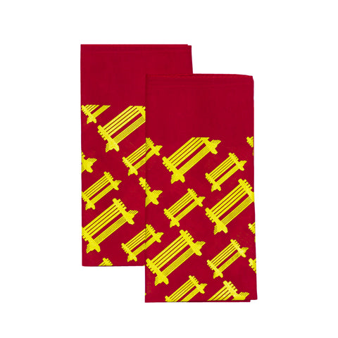 b. Red/Yellow Logo Bandana