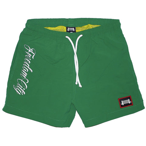r. Freedom City Green/White Trunks