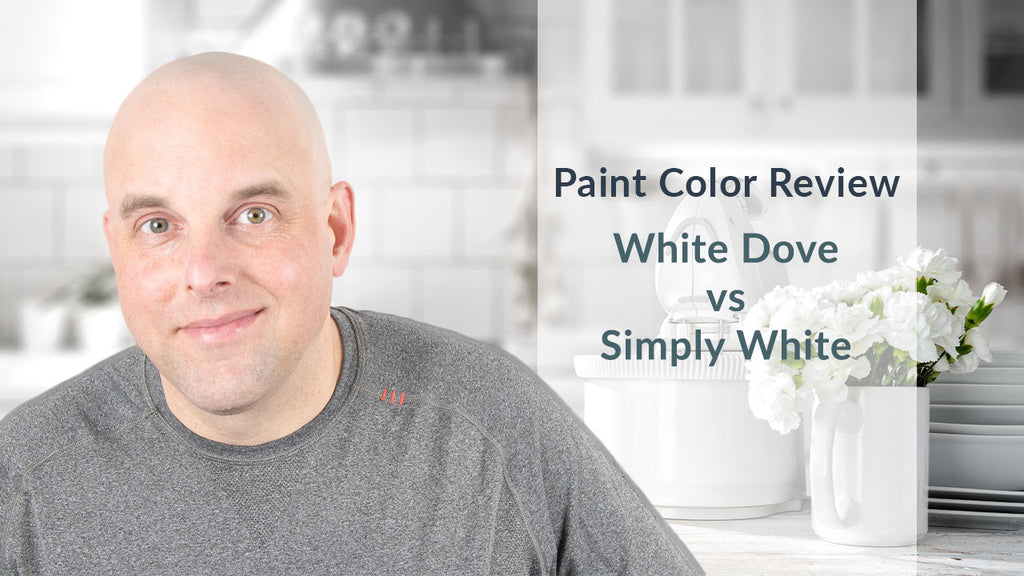 Benjamin Moore White Dove vs Simply White Color Review