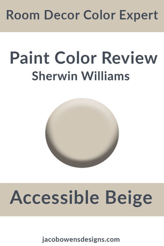 Picture of a paint sample color of Accessible Beige by Sherwin Williams
