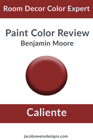 Benjamin Moore Caliente Color Review Paint Sample