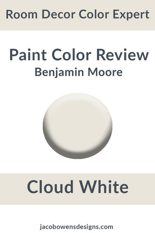 Benjamin Moore Cloud White Color Review Paint Sample