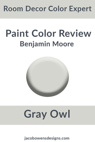 Picture of Benjamin Moore Gray Owl paint sample