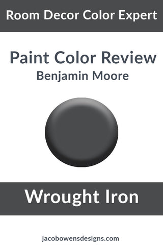 Benjamin Moore Wrought Iron Color Review Paint Sample